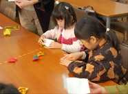 •2014年1月12日八事教会教会学校合同分級-折り紙で作るコマ1