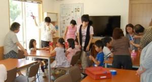 •2013年6月16日八事教会教会学校合同分級-牛乳パックでブーメラン作り8