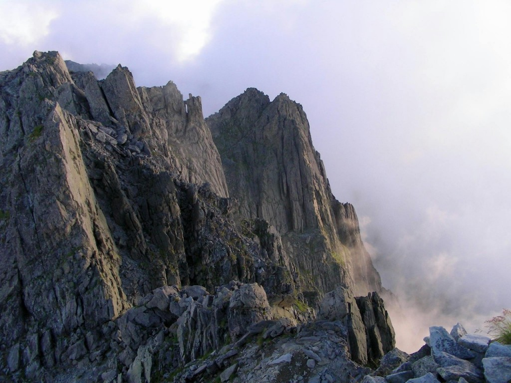 八事教会-2015年7月聖書の言葉-写真は-北穂高岳から見た滝谷