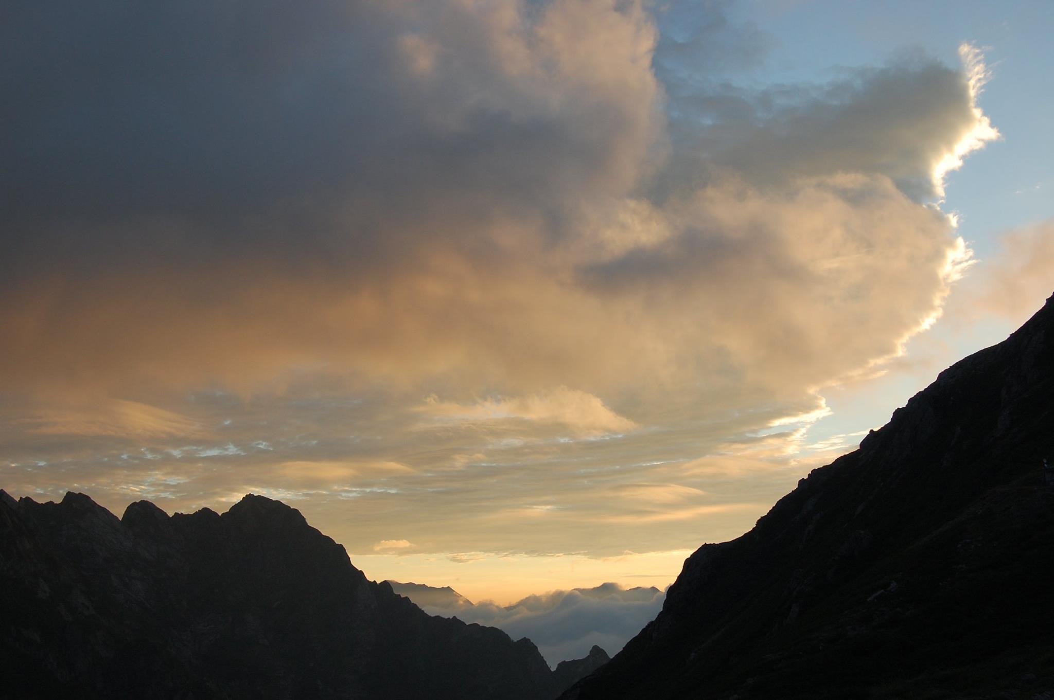 八事教会 2015年2聖書の言葉 八ツ峰と後立山(撮影場所、剣沢小屋)