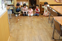 日本キリスト改革派八事教会教会学校工作「糸巻き車作り&競争」2