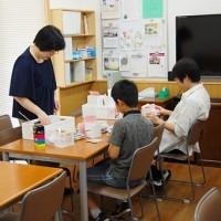 日本キリスト改革派八事教会教会学校父の日工作「ネクタイピンケース作り」