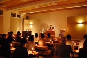 2015年日本キリスト改革派八事教会クリスマスキャンドル賛美礼拝